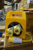 8 X Briticent SE1020 15M 16AMP 110V Extention Leads With Thermal Cut Out