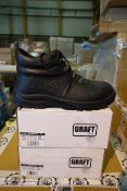 11 X Pairs Of Graft Gear 201 PU Premium Derby Safty Boots Size UK7 EUR41 Black