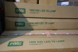 50 X NVC NL/18/LED/T8/4/840 1200MM 4FT LED Tubes Cool White 4000K