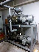 Busch Skid-Mounted Vacuum Pumps|(2) Busch Pumps, 25 HP Motor, Type: RC0630-B007-1103, 430 CFM