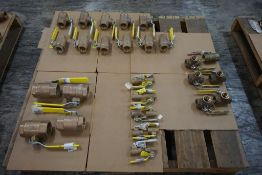 """Lot of (31) Apollo Brass Ball Valves