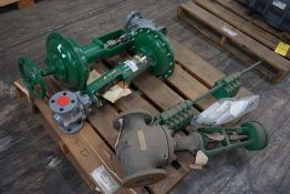 """Lot of (3) Valves w/Fisher Actuators
