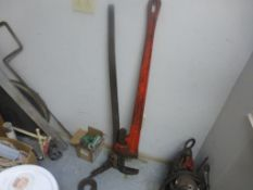 """Lot of Pipe Wrenches