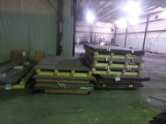 Lot of Assorted Metal Sheets on Pallets|Approx. 3-4 Trucks for Removal; Click Here for Additional