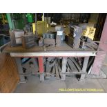 """Metal Table w/Assorted Dies & Punches 