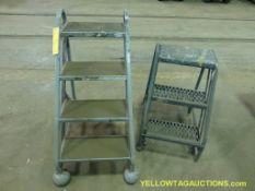 Lot of (2) Step Ladders   (1) 2'; (1) 3' Cotterman, Max 300 lbs
