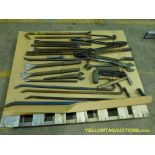 Lot of Assorted Components   Includes:; Hammer; Crow Bar; Dual Sided Wrench