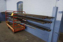 Cart w/Large Assortment Black Pipe|Lot Tag: 302