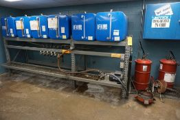 Oil Dispensing System|(6) Drums; Pump; (2) Lube Pumps|Lot Tag: 1013
