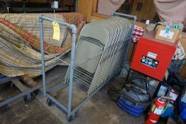 Lot of Folding Chairs and Cart|Lot Tag: 434