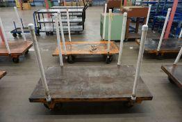 "Lot of (2) 30"" x 60"" Metal Carts|Lot Tag: 533"
