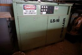 Sullair LS-16 Air Compressor|Model No. 16BS-75L AC; 75 HP; Rated/Max Air Pressure 100/110; 305.1