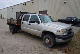 2007 Chevy Silverado 3500 2 WD Pickup Truck|VIN: 1GCJC33D57F159034; Approx. 320,450 Miles; Crew Cab;