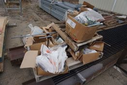 Pallet of Assorted Bolts, Couplings, Rods