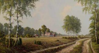 """NOBBE, Werner, Deutsche Schule, 20. Jh., Öl/ Leinwand, links unten sign., """"Westfälische Landschaft"""","""