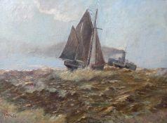 GOULD, Alexander Carruthers (*17.03.1870 Woodford +1948), Öl/ Leinwand, Generationentreffen auf
