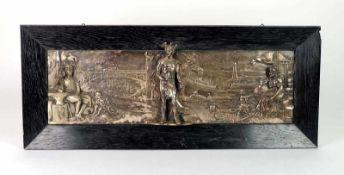 BOMMER, Georg, Bildhauer des 19./20.Jh., Flach- und Halbrelief, versilbert, Allegorie des Handels,