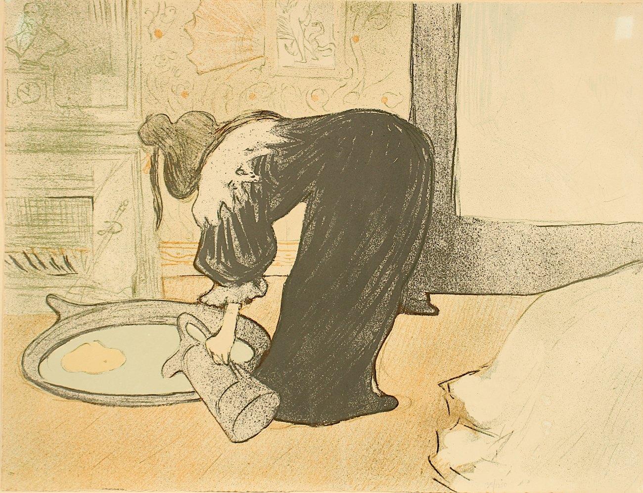 TOULOUSE-LAUTREC, Henri de, nach, Faksimile nach Farblithografie, 40 x 52...
