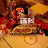 Sports memorabilia - Calgary Flames sweater, blanket