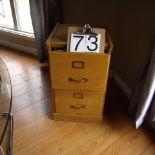 2 drawer wooden filing cabinet