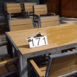 Patio Table 6 chairs