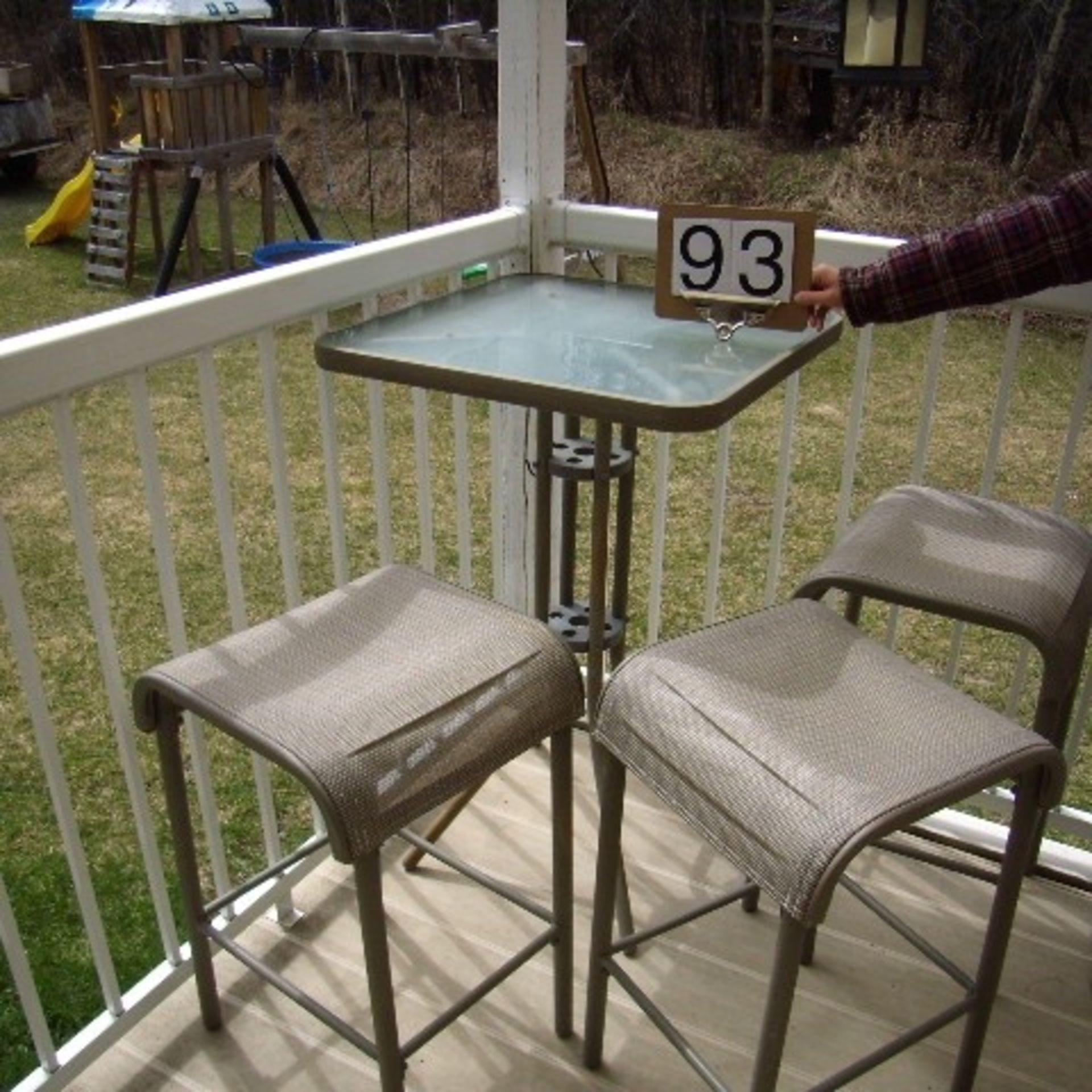 Bistro Patio set , 3 stools