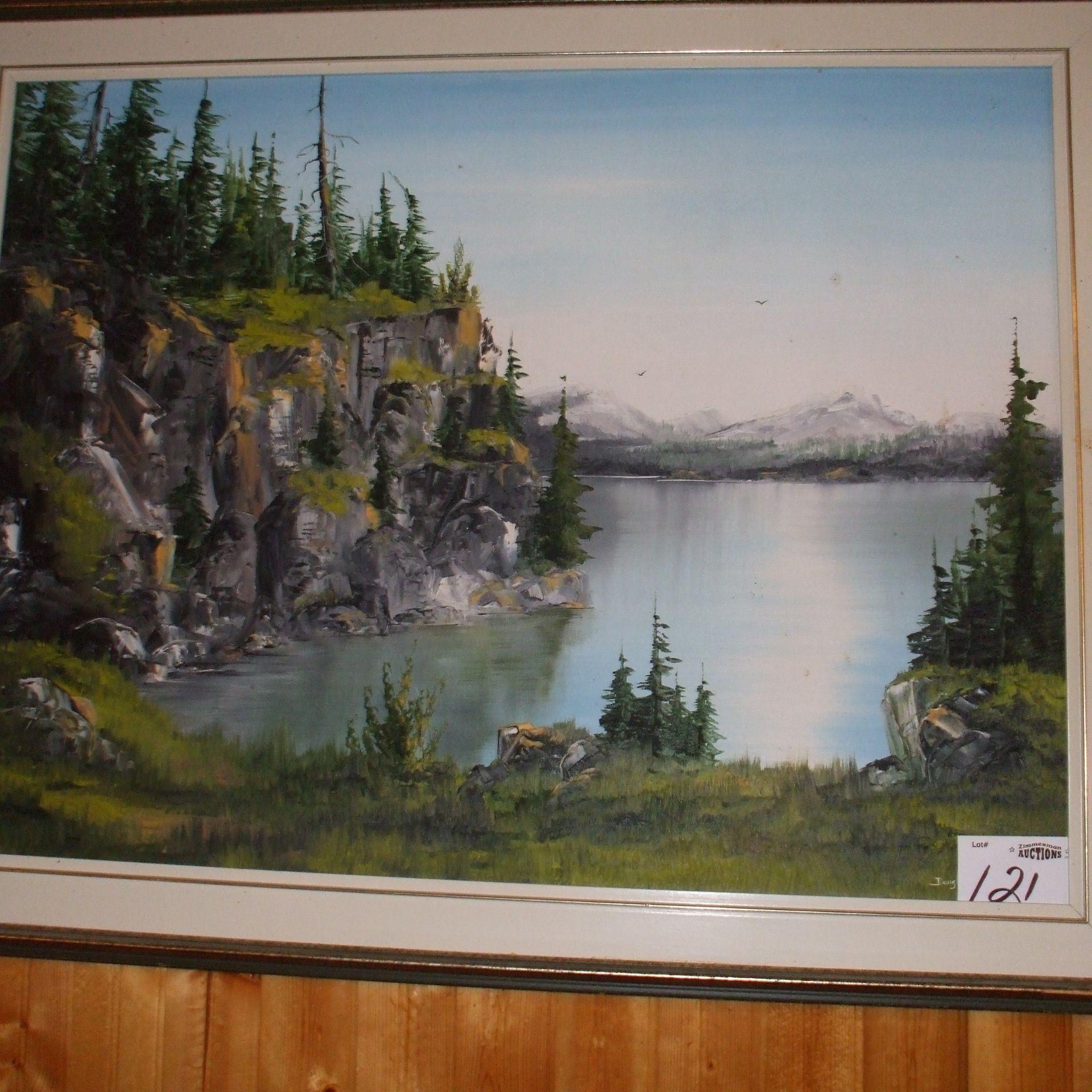 Painting - Douglas Jones - Horsefly lake