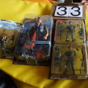 Action figures, still in packages