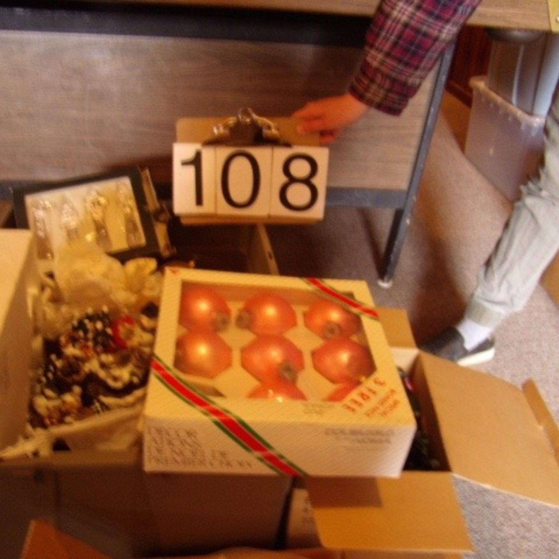 Boxes of Misc. Christmas decorations