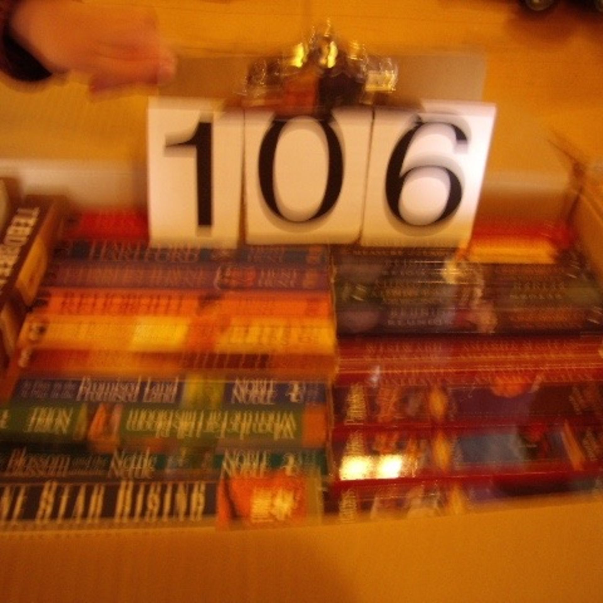 Boxes of assorted books