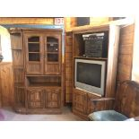 3 piece corner cupboard & entertainment centre