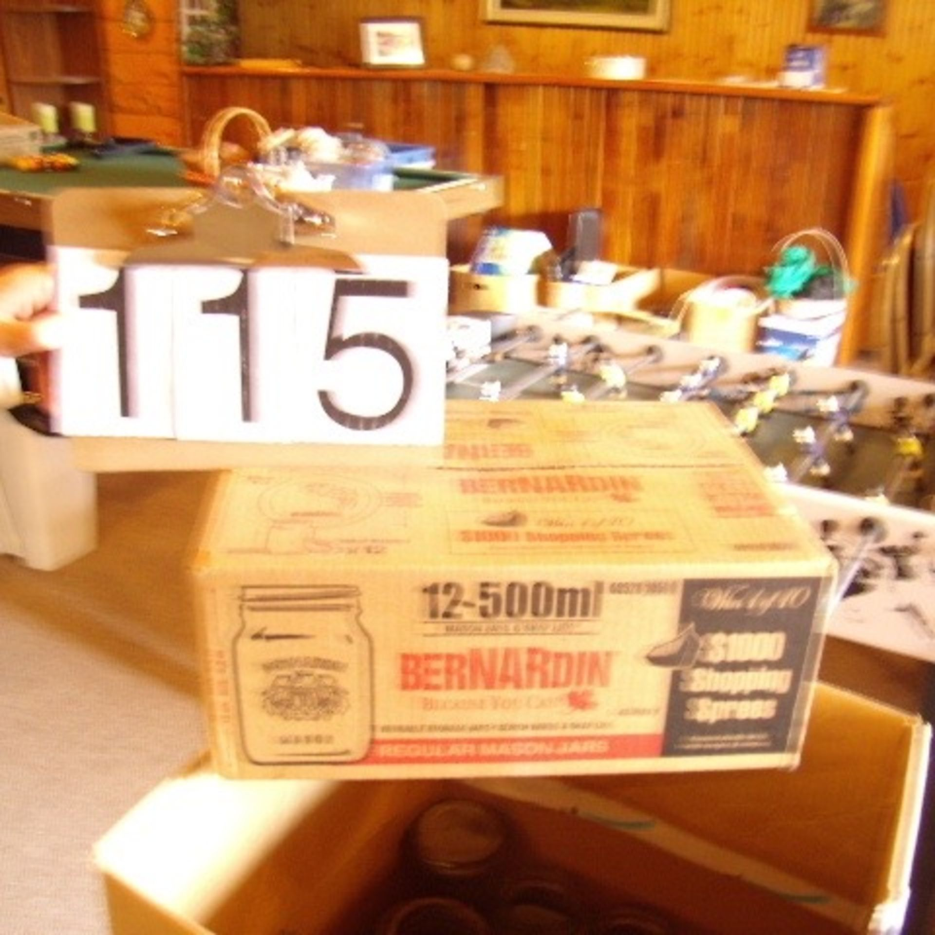 Box various sizes of jars - new & used