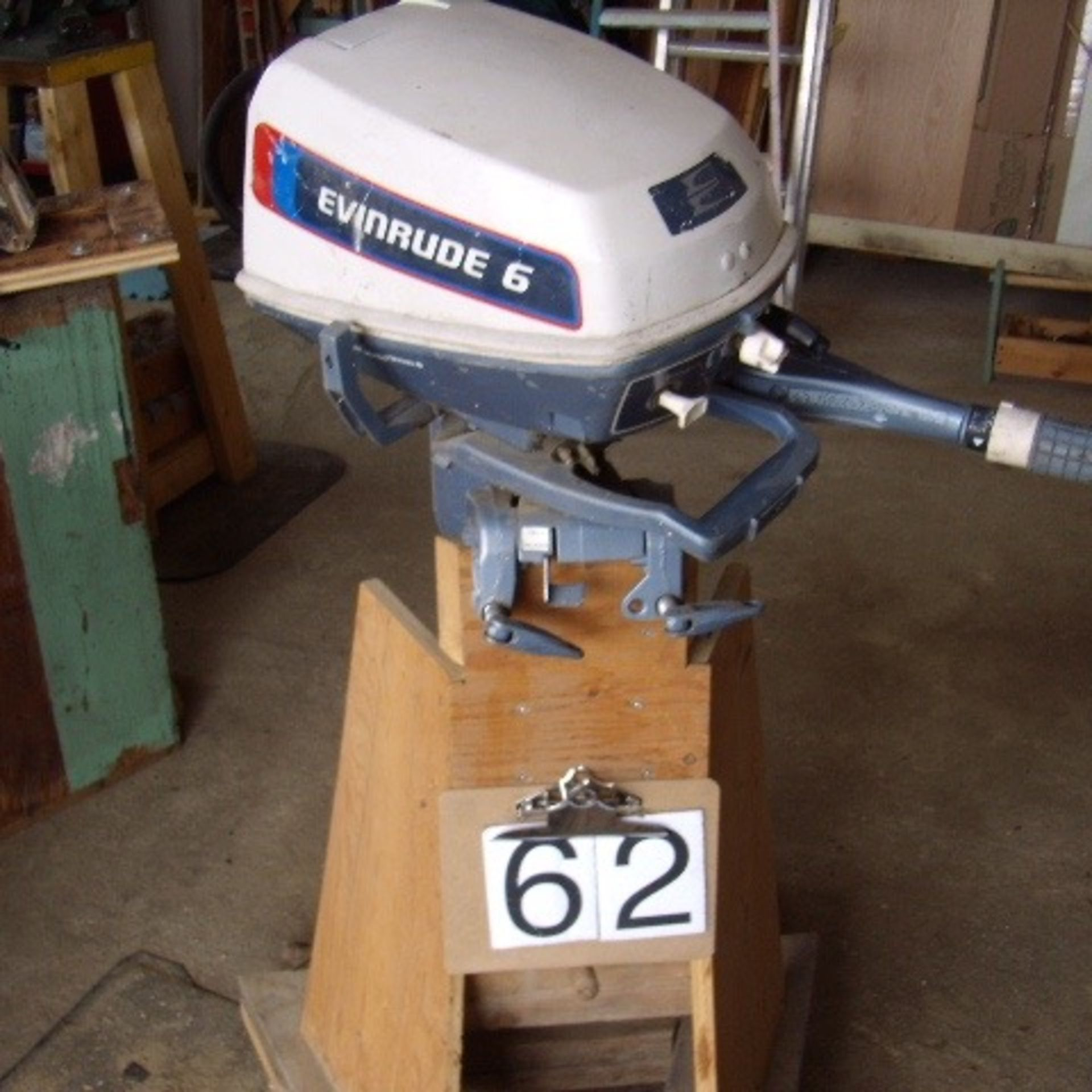 Evinrude 6 hp Boat motor & stand