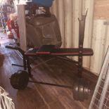 Weight bench & bar bells