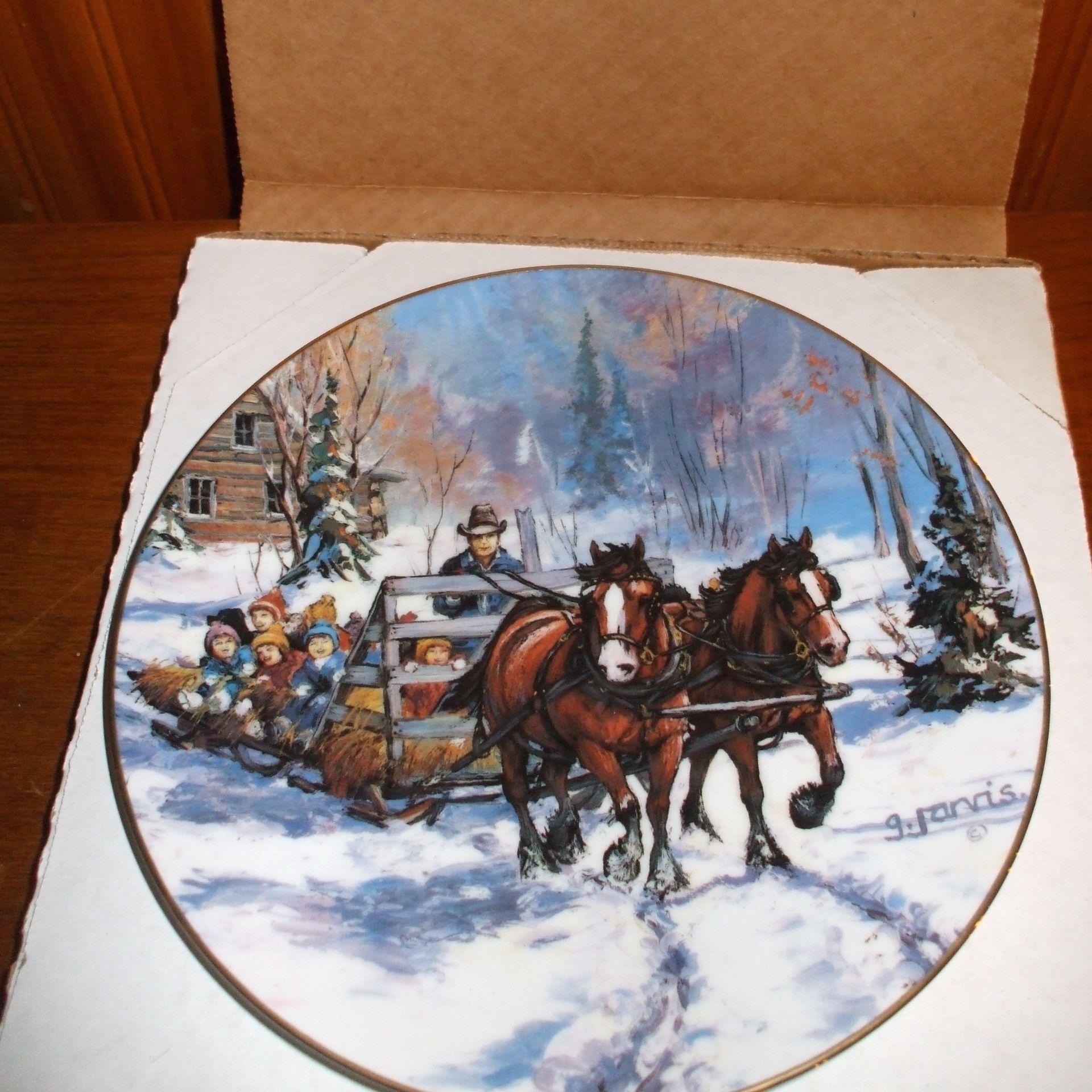 """Georgia Jarvis Plate """"Hay sleigh kids"""""""