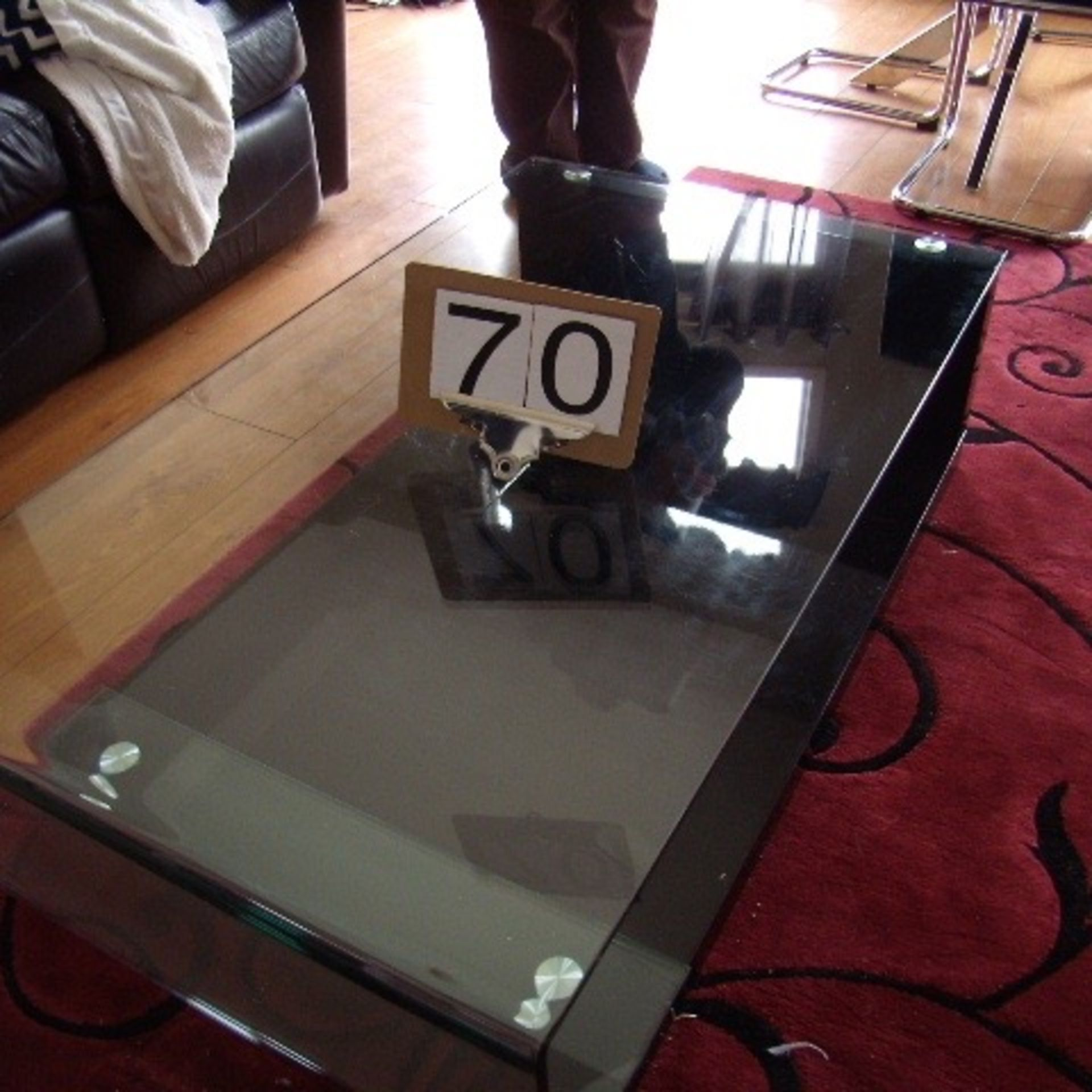Glass top coffee table & end table
