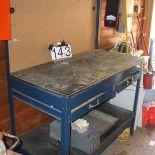 Blue mastercraft work bench