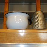 Chamber pot , antique grater