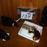 Avon collectible set after shave animals