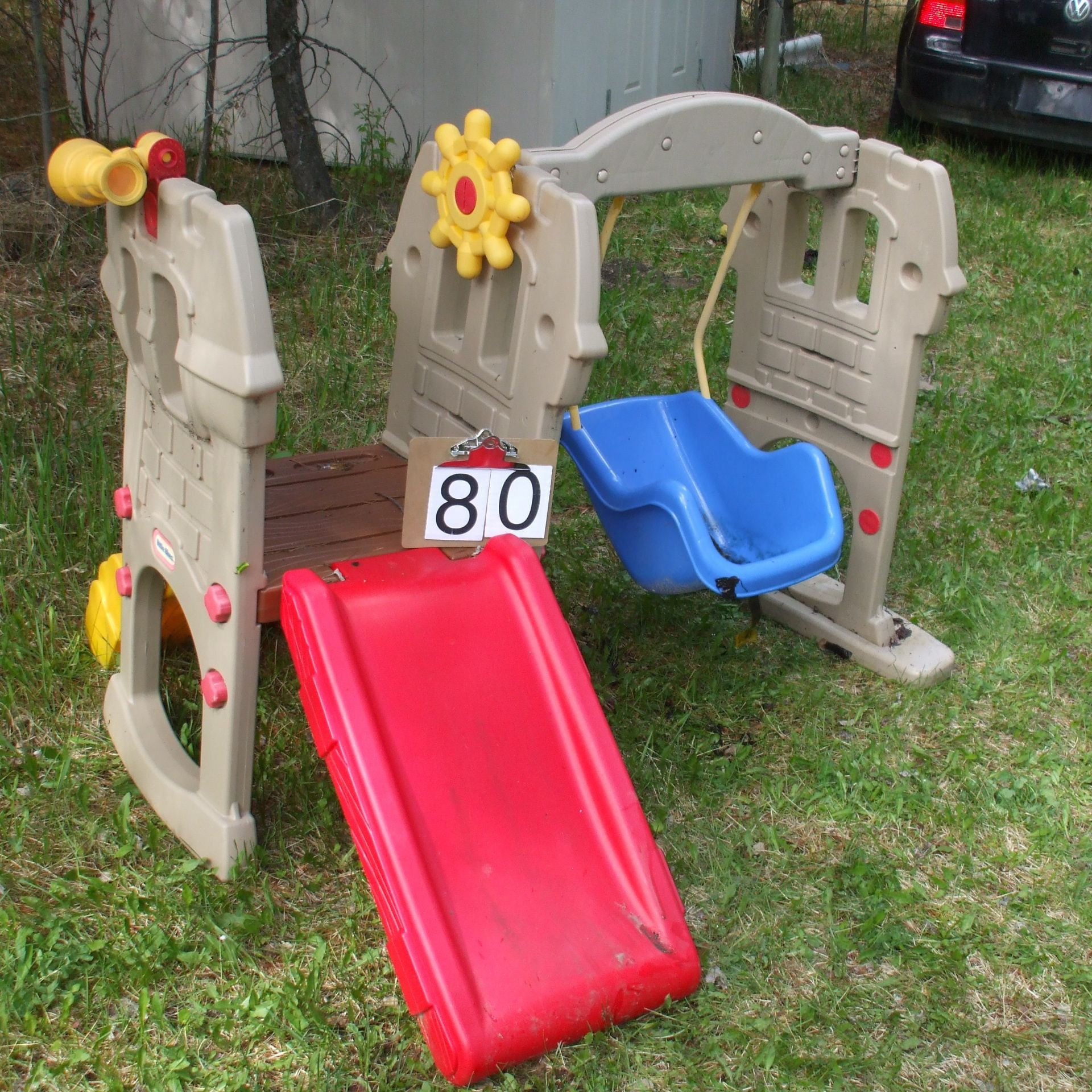 Child swing and slide