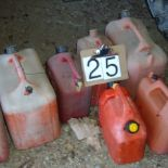 Assortment of plastic Jerry cans