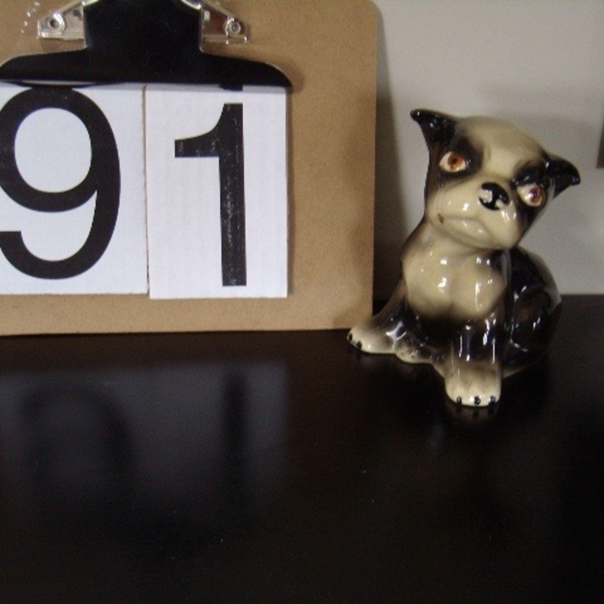 Black & White Boston terrier ornament