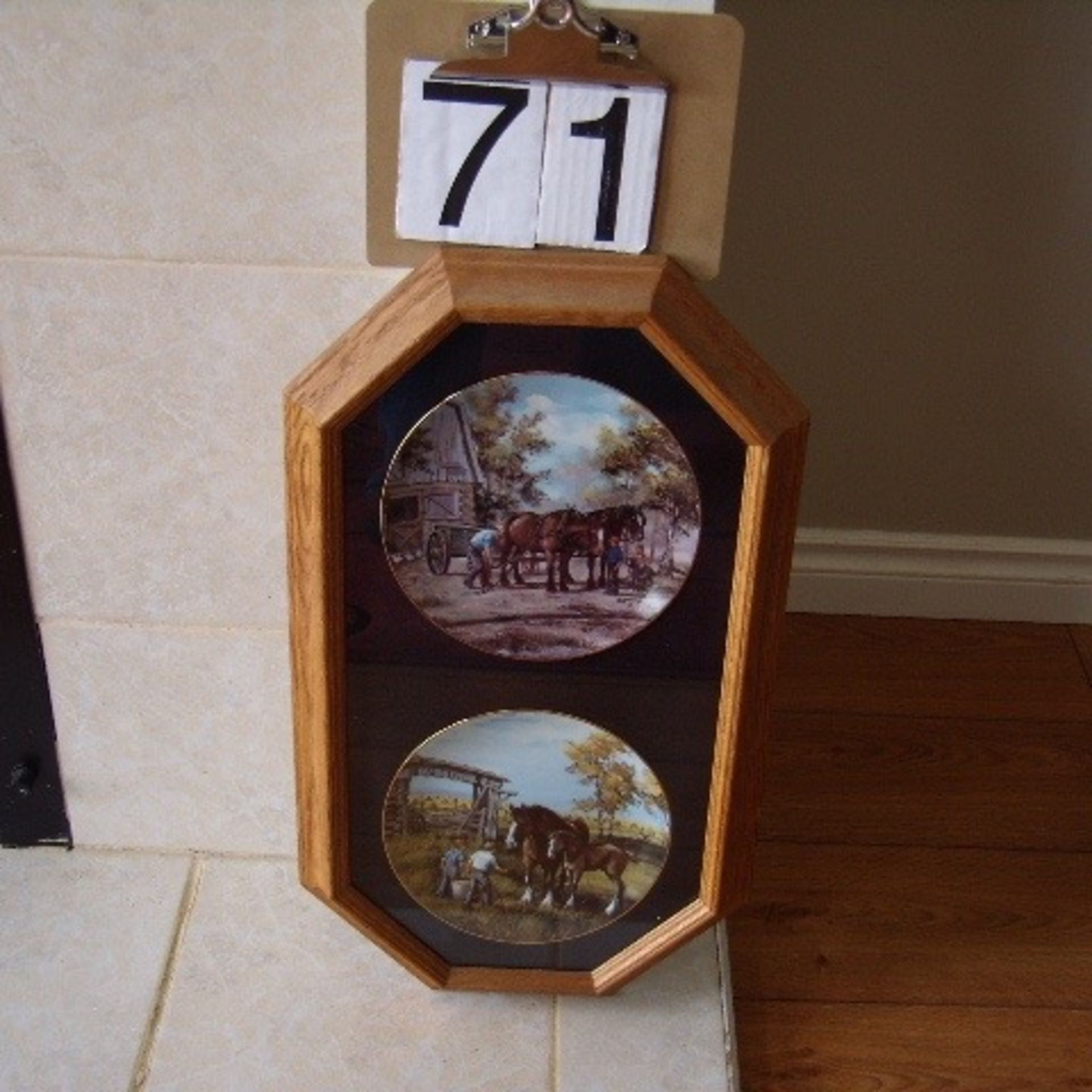 2 Georgia Jarvis Plates in frame -PROCEEDS TO STOLLERY HOSPITAL - Image 2 of 2