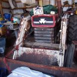 MF 165 tractor, diesel, 3pth, with Job Master Loader sn: 9A20239I