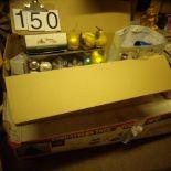 7ft. Pre lit Christmas tree & 2 boxes decorations