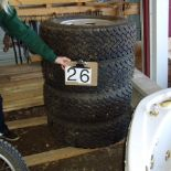 7 Tires & rims, 257.75xR16