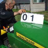 John Deere 1025R tractor, 3pth, loader, backhoe,