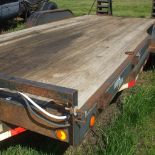 Load Trail 18 ft. trailer, beaver tails, 12000 lb. winch, tool box