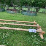 3 Cavalette Jumping Rails