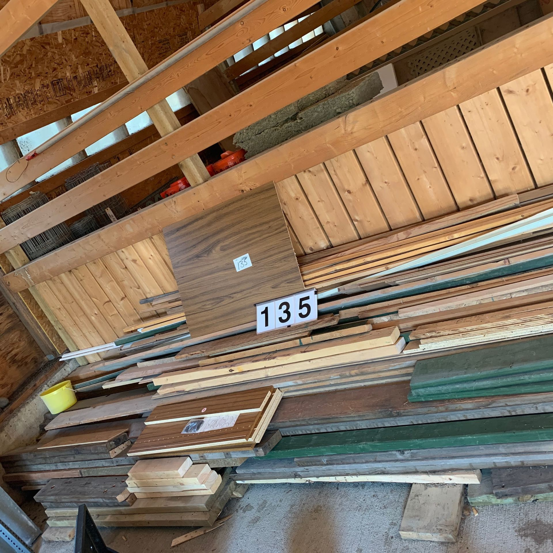 Lot 135 - Misc Lumber - Various Sizes & Dimensions